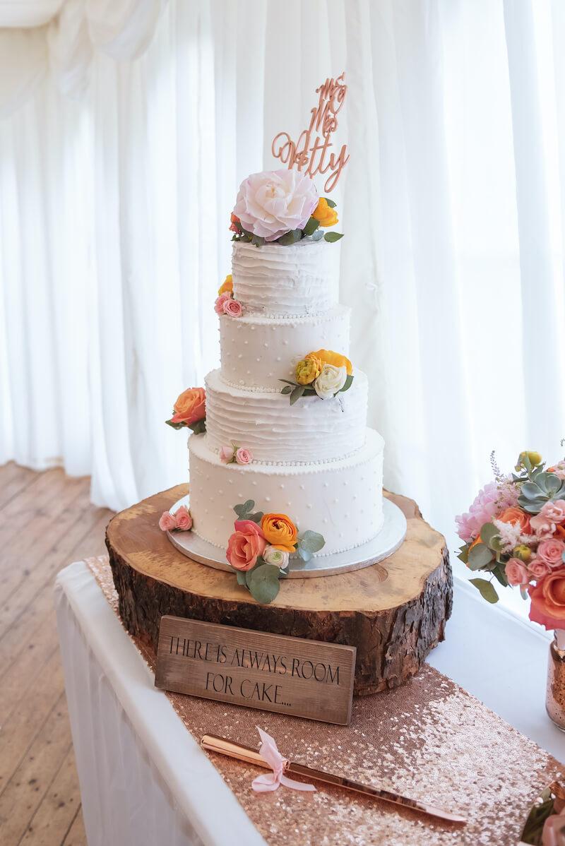 Hochzeitstorte Rosegold