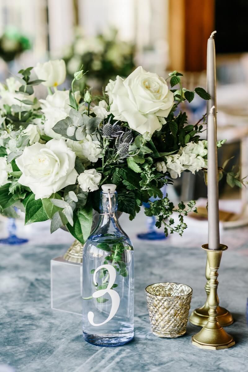 Flaschen Tischnummern Hochzeit