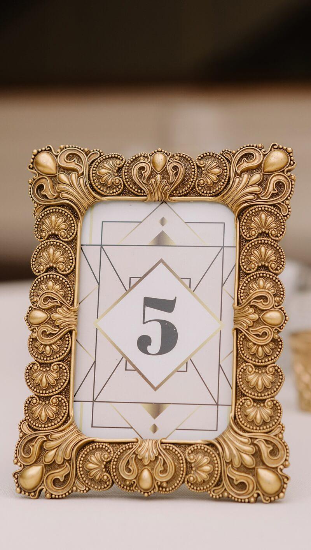 Tischnummern gold Hochzeit