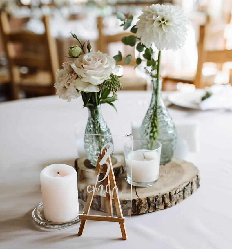 Tischnummer Acryl Hochzeit