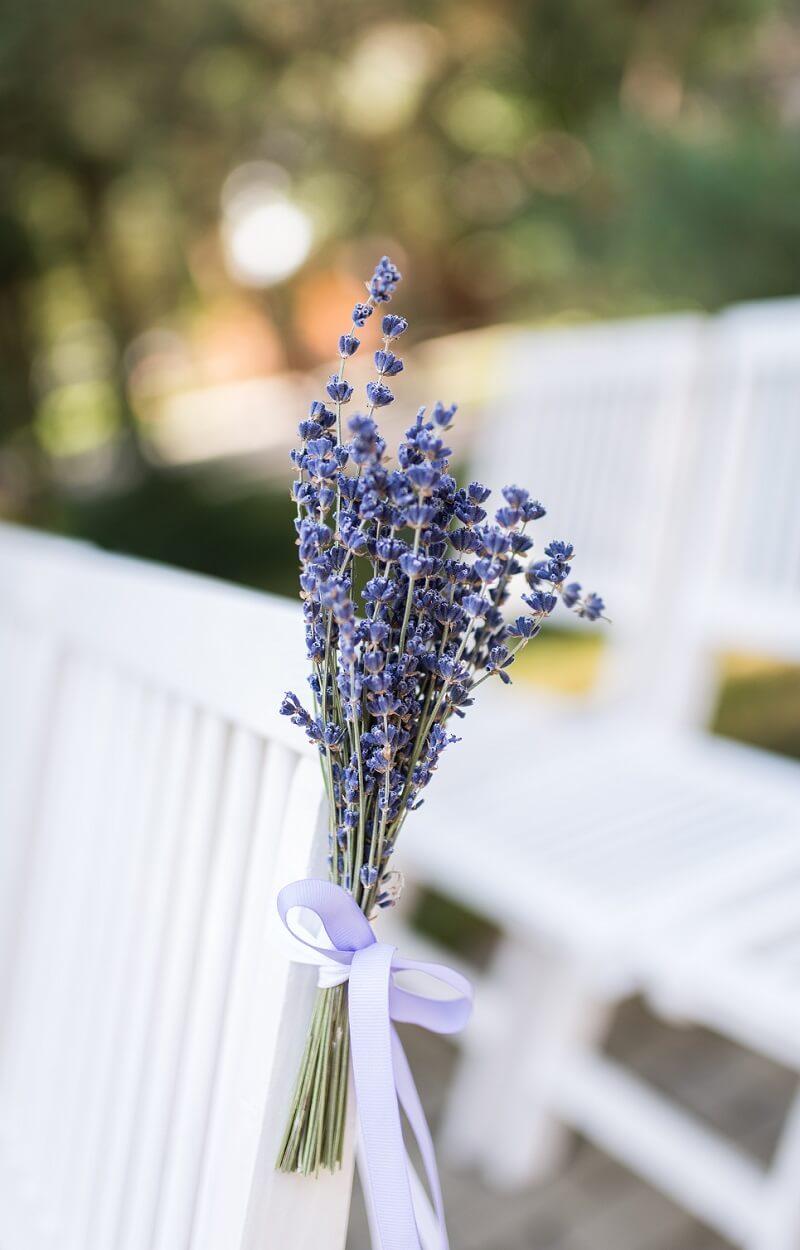 Hochzeit Lavendel, Stuhldeko, Hochzeit Lila