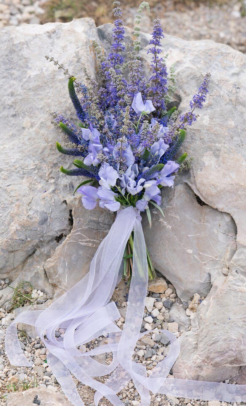 Hochzeit Lavendel, Brautstrauß Lavendel, Hochzeit Lila