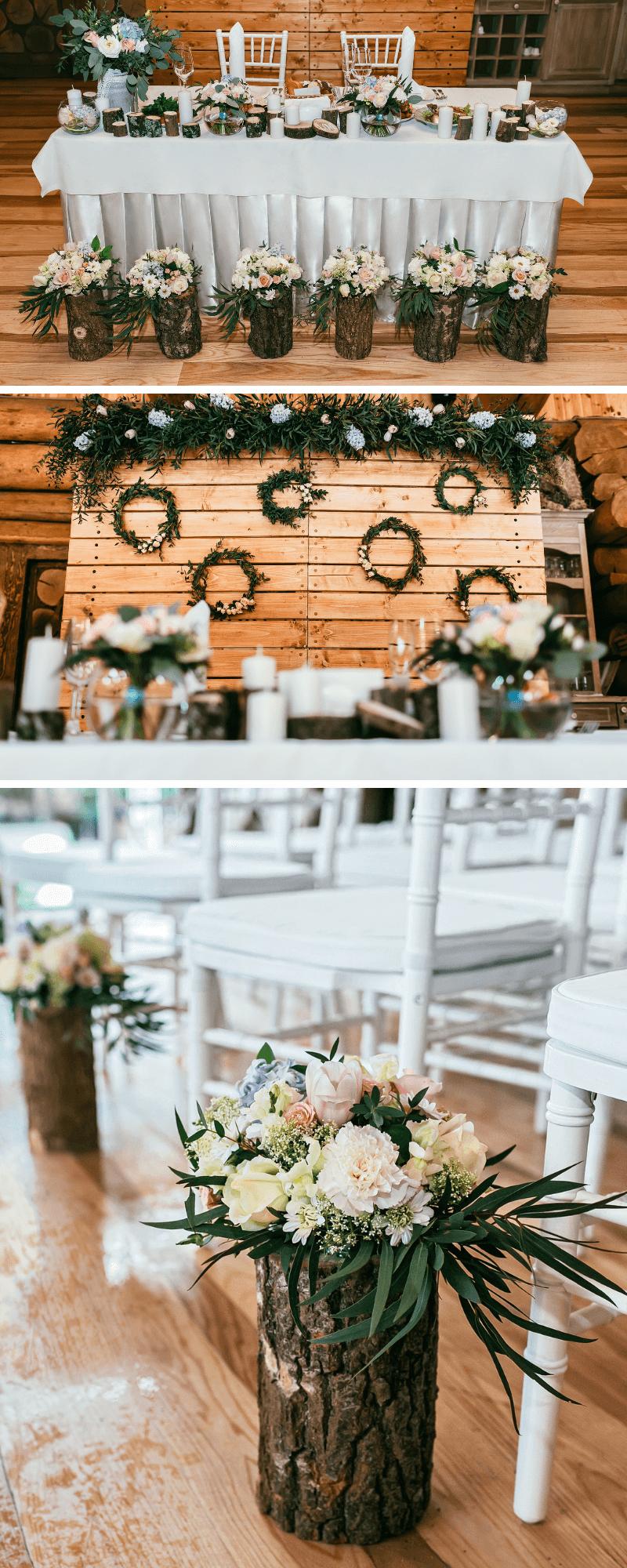 Hochzeitsdeko Holz, Hochzeit Holzdeko