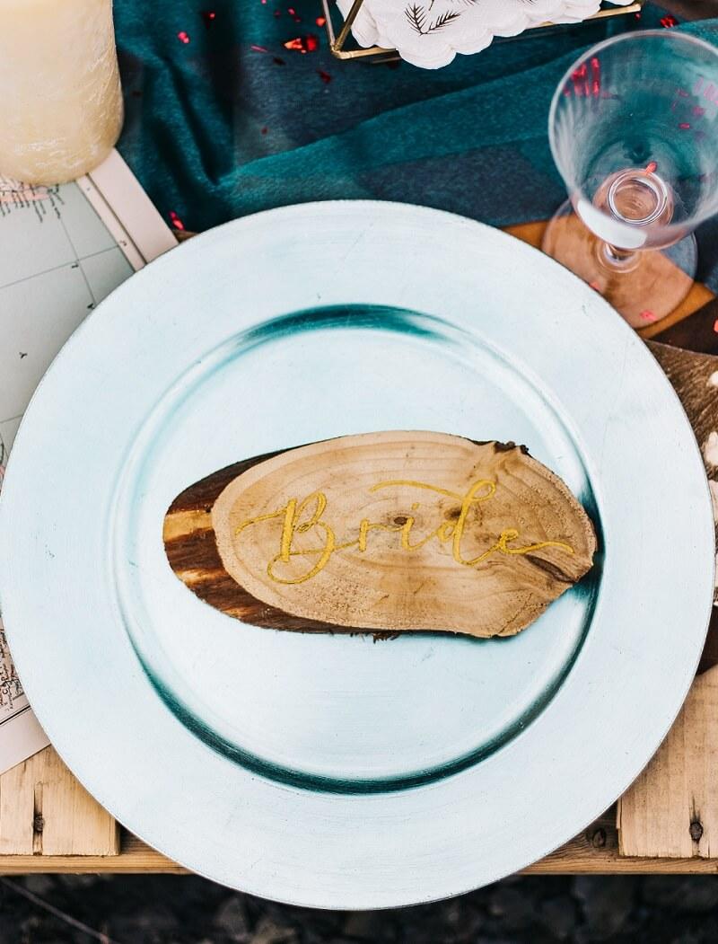 Tischkarten Holz