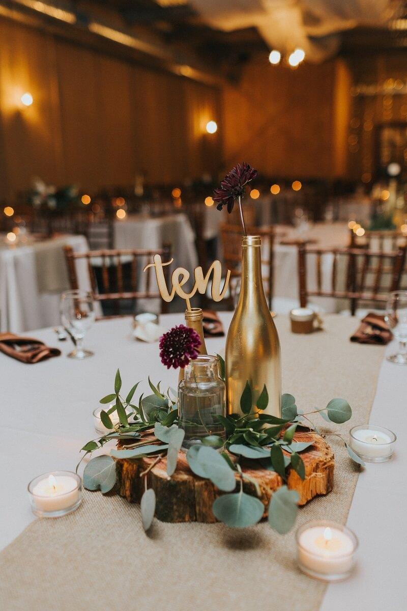 Tischdeko Holz elegant