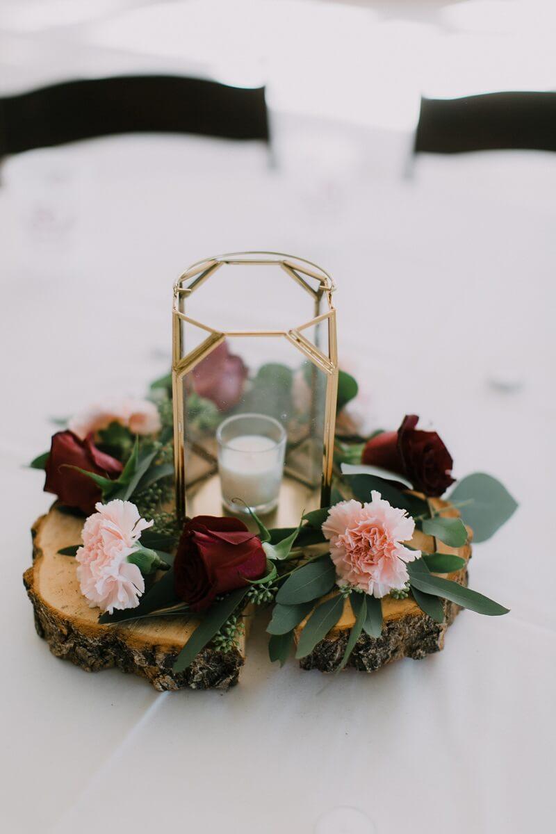 Tischdeko Holz Hochzeitsdeko