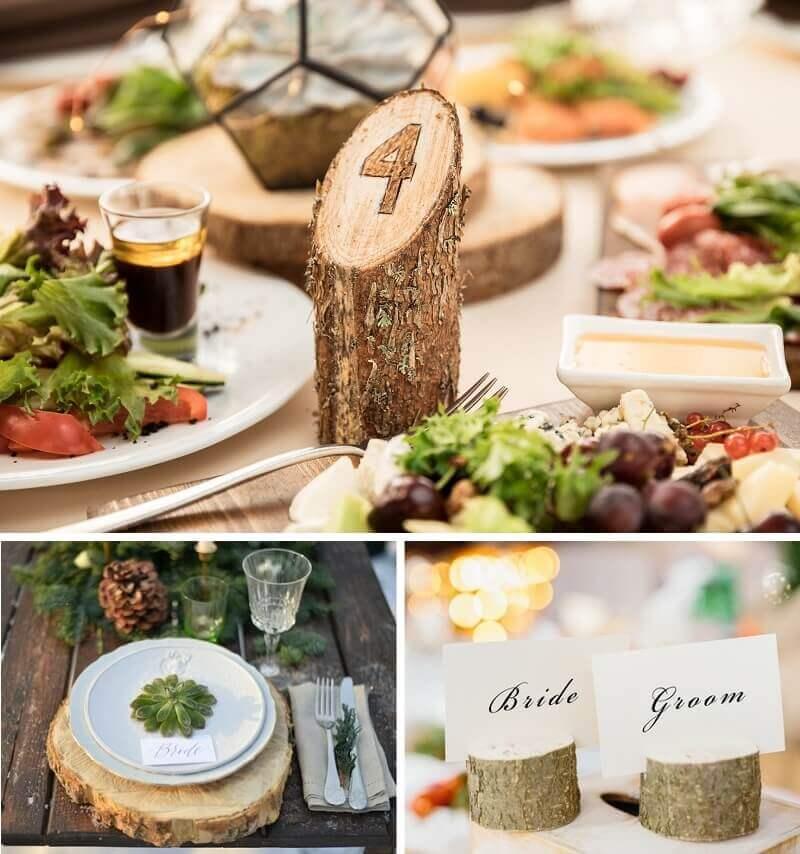 Hochzeitsdeko aus Holz, Hochzeitsdeko Holz, Hochzeit rustikal