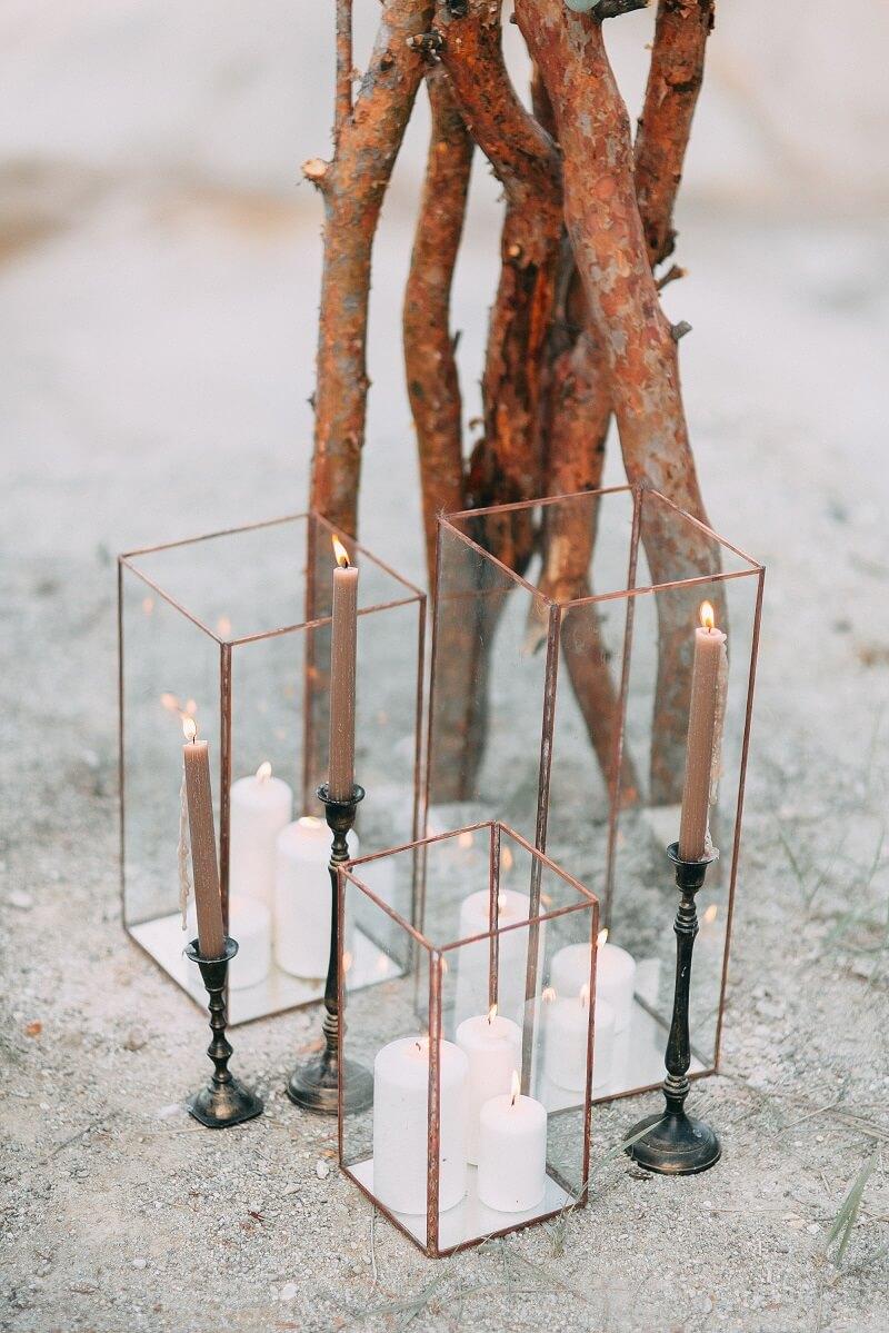 Hochzeitsdeko geometrisch