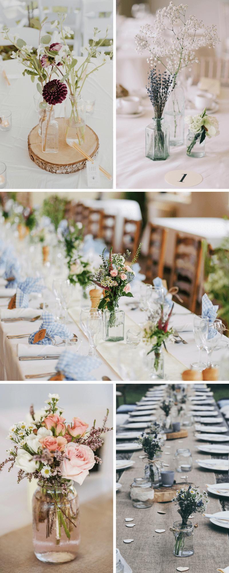 Minimalistische Hochzeits Tischdeko Hochzeitskiste