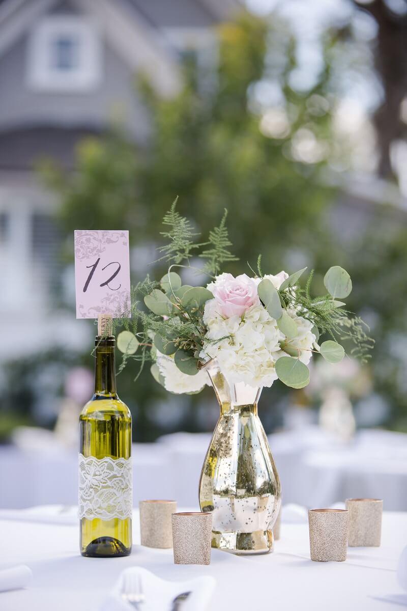 Tischdeko Hochzeit minimalistisch
