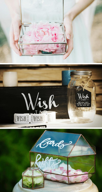 Kartenbox Hochzeit Glas.Diy Hochzeitsdeko Aus Glas 37 Inspirationen Hochzeitskiste