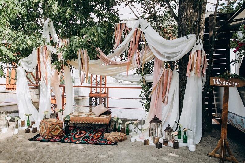 Boho Hochzeit Lounge