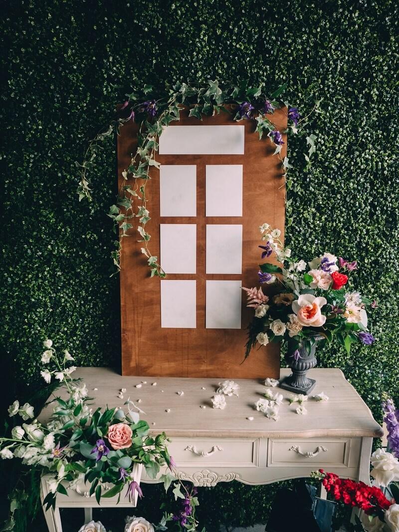 Hochzeit Sitzplan Holzschild