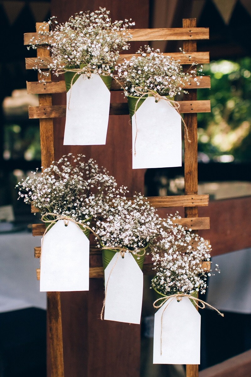 DIY Sitzplan Hochzeit Vintage