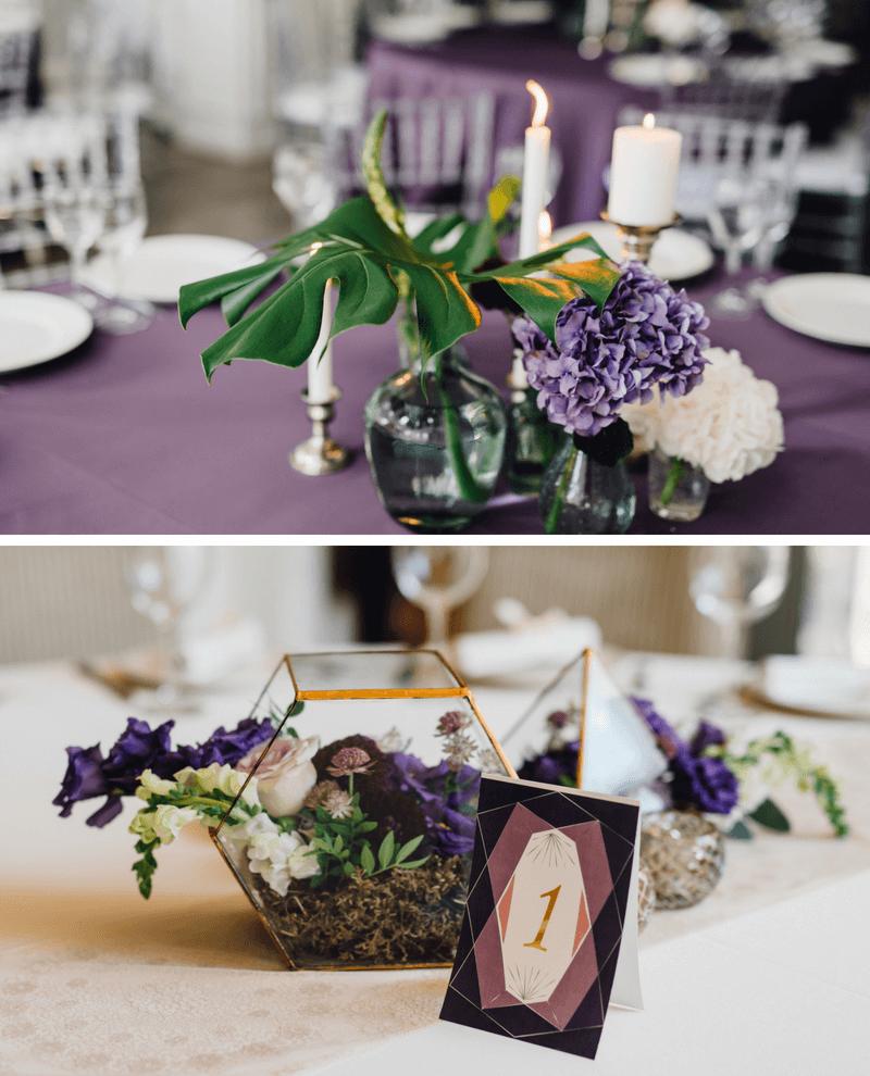 Hochzeit in Lila, Hochzeit Lila, Hochzeitsdeko lila, Hochzeitsfarbe Lila