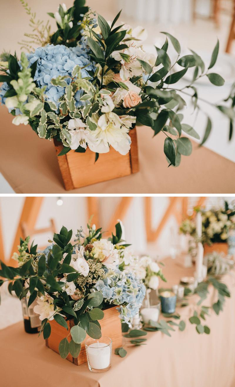 Hochzeit Hortensien, Hochzeitsdeko Hortensien, Tischdeko Hochzeit hellblau