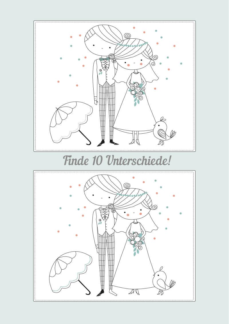 Hochzeitsmalbuch Zum Ausdrucken Kostenloser Download