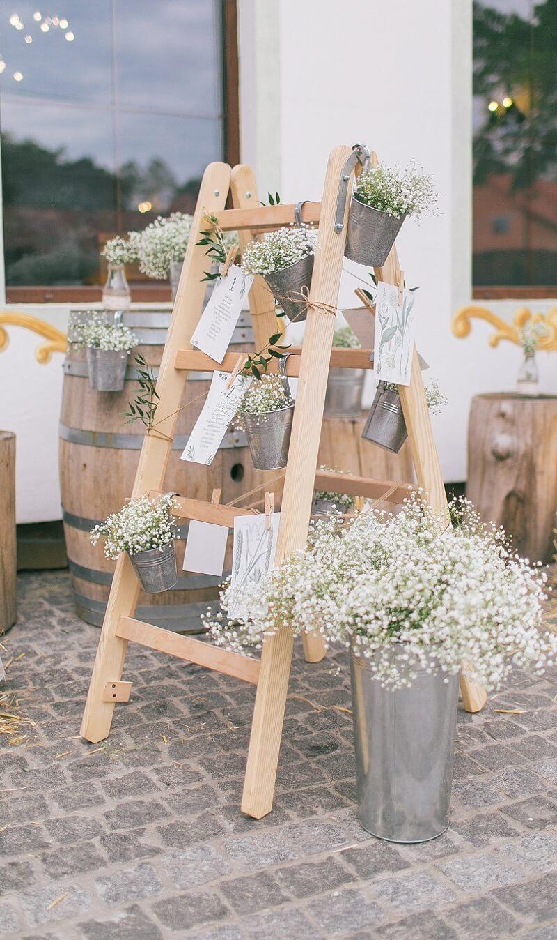 Leiter Sitzplan DIY Hochzeit