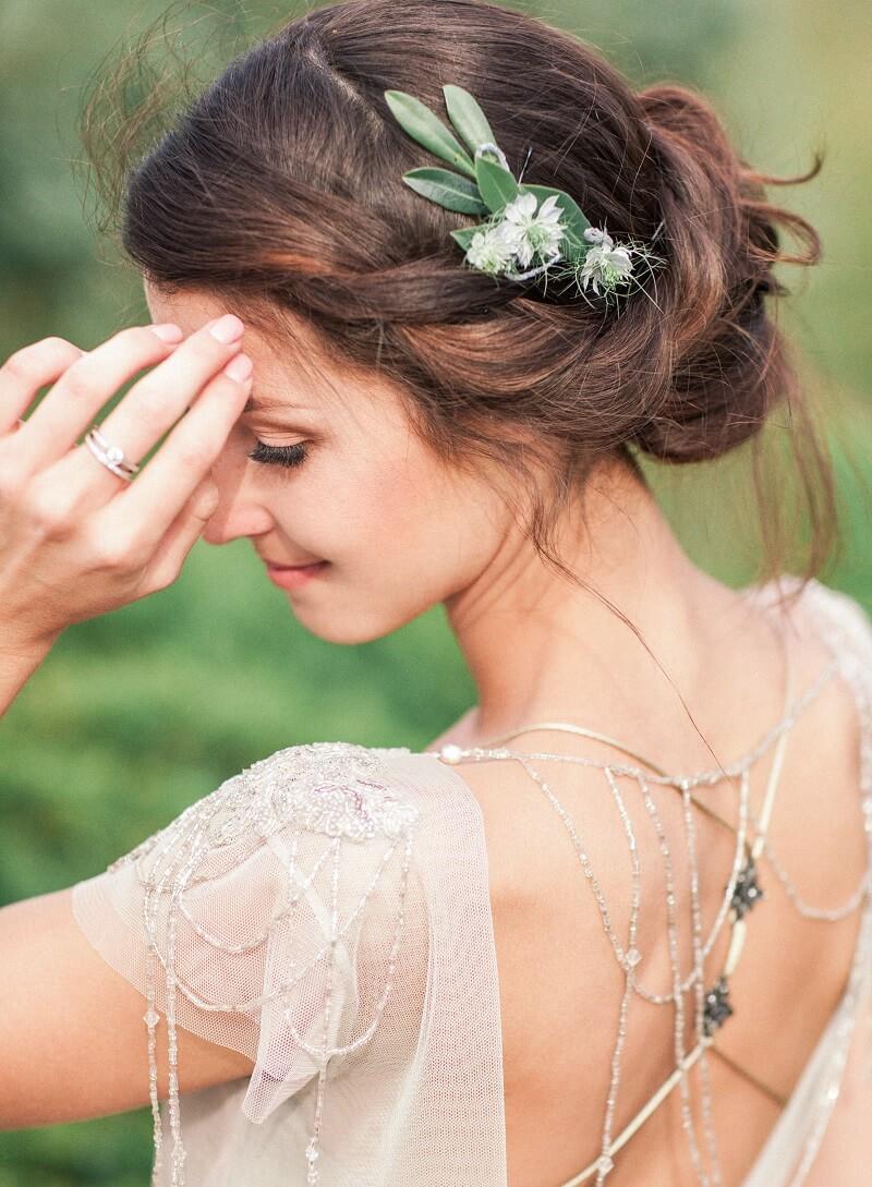 Brautfrisur hochgesteckt, Brautfrisur geschlossen