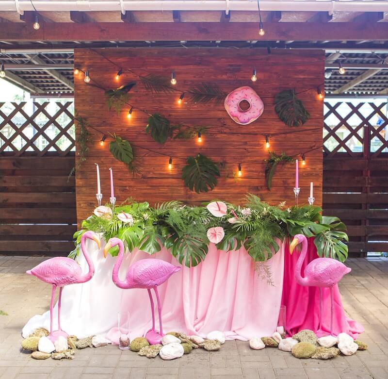 tropische Sommerhochzeit, Sommerhochzeit Motto, Hochzeit Flamingos, Flamingo Hochzeit, Hochzeit tropical