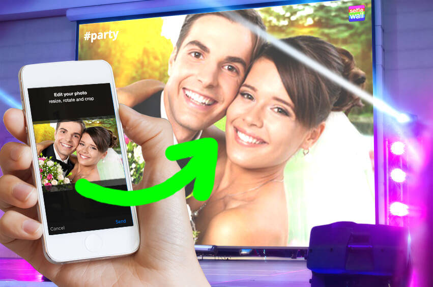 Selfie Wall, Hochzeitsfotos, Hochzeitsidee