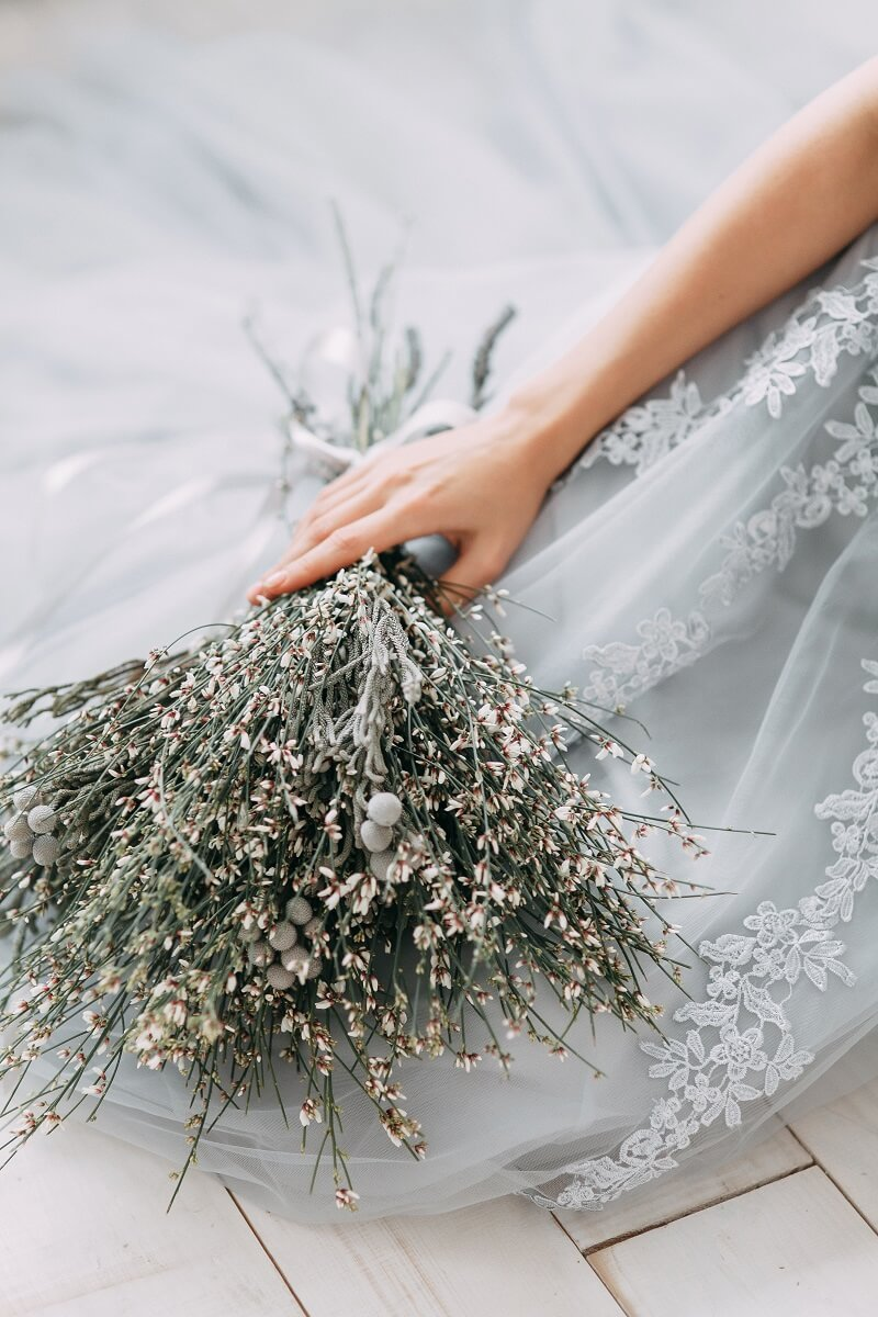 originelle Brautstrauß Ideen, Brautstrauß Getreide