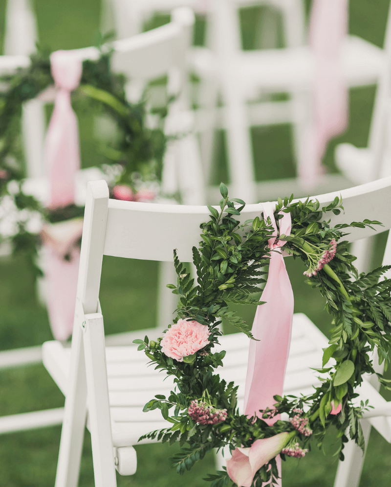 wedding hoops, stuhldeko hochzeit