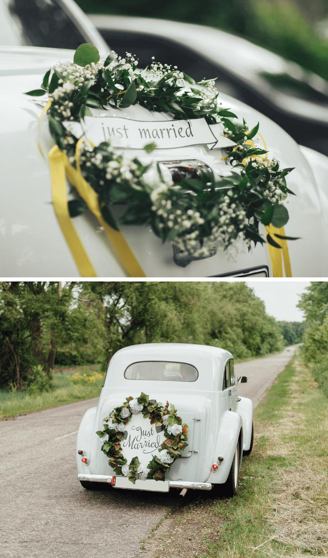 Autoschmuck Hochzeit Wedding Hoop