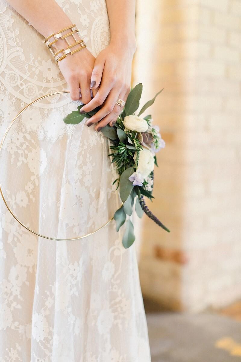 wedding hoop, brautstrauß originell