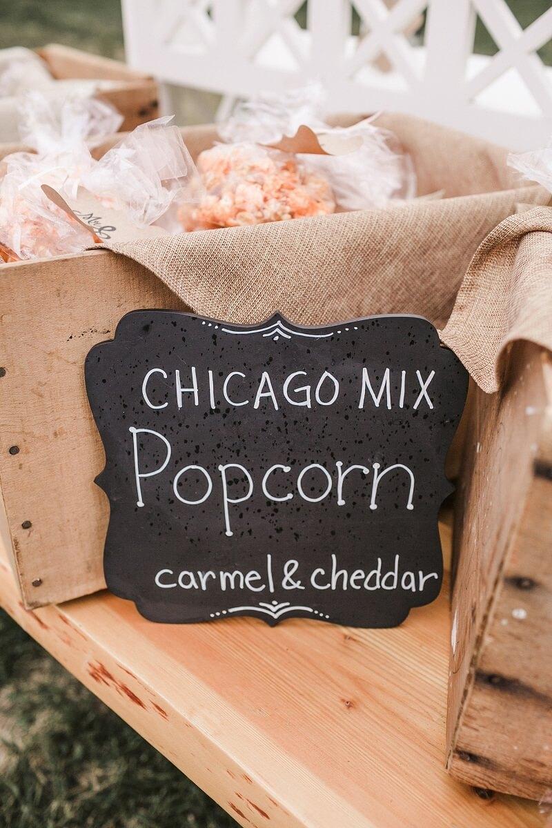 Salty Bar Hochzeit, Popcorn Bar
