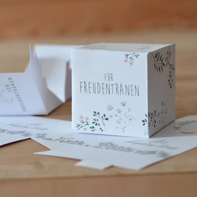 Freudentränen Taschentücher, Freudentränen Hochzeit, Taschentücher Hochzeit Vorlagen, Taschentuch Box Hochzeit