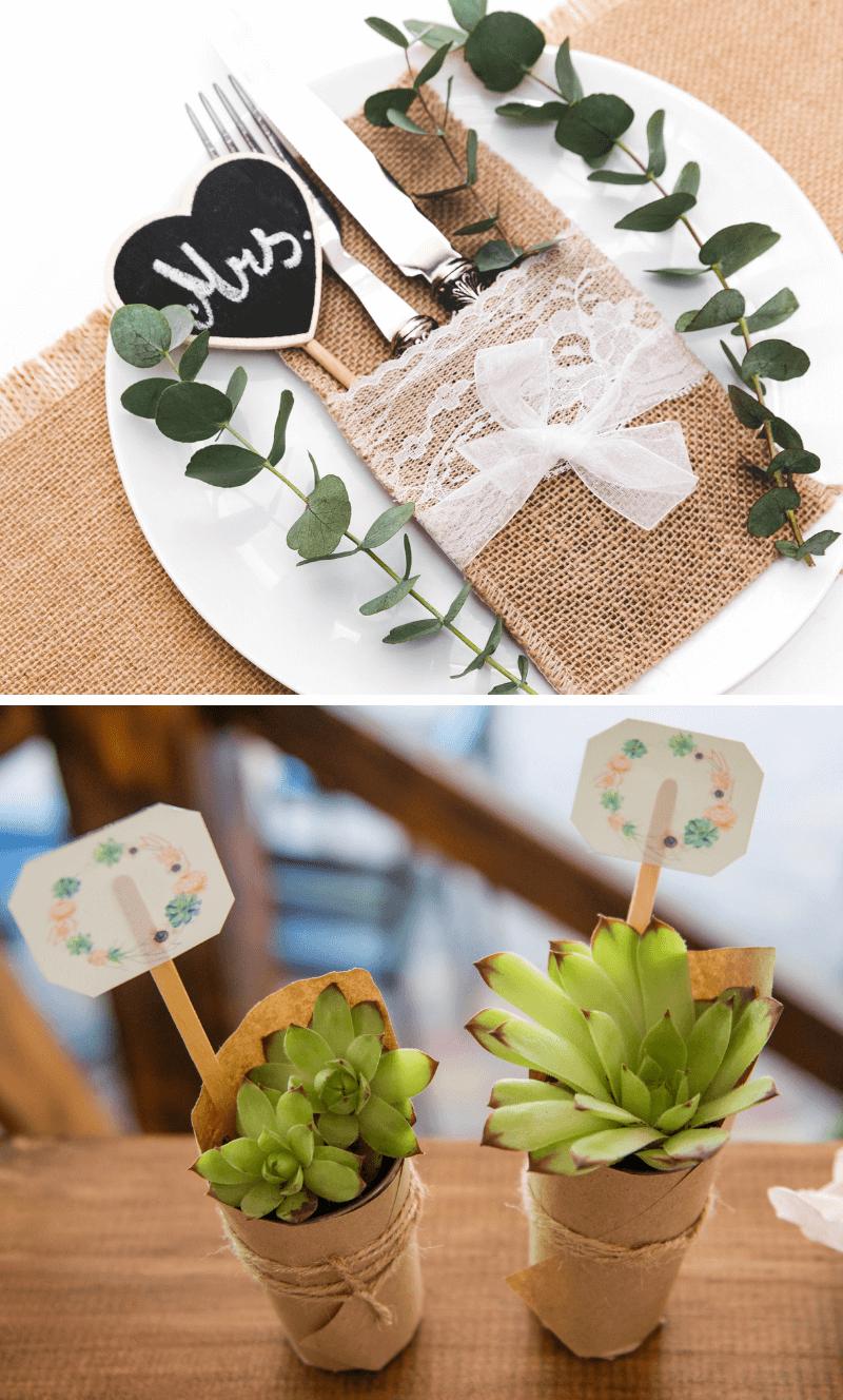 30 Einfache Ideen Fur Diy Tischkarten Hochzeitskiste