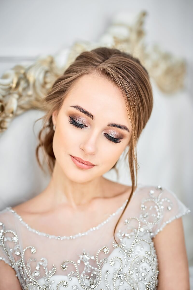 Braut Make-up, Hochzeit Make-up, Brautstyling, Braut makeup smoky eyes
