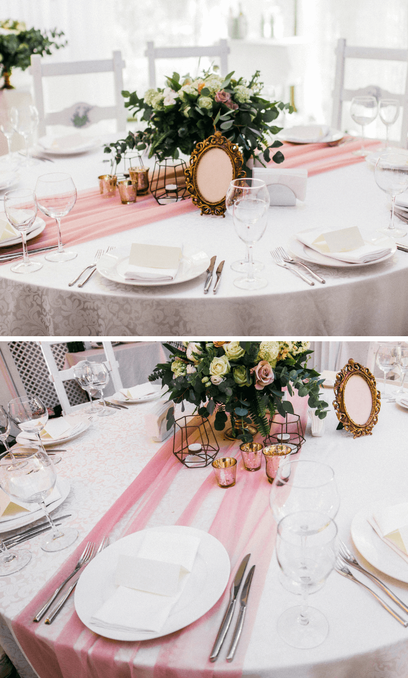 Hochzeitsdeko Rosa, Rosa Hochzeitsdeko, Hochzeit Rosa, Hochzeit in Rosa, Tischdeko rosa