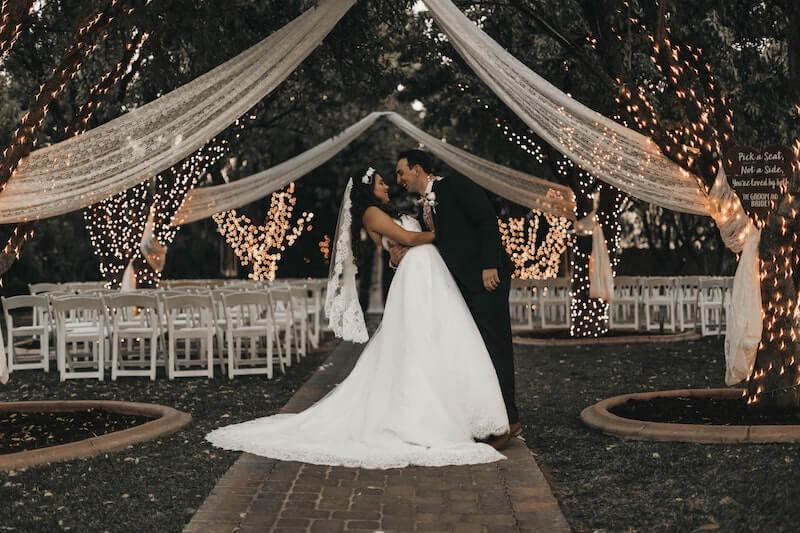 Hochzeit Lichterdeko