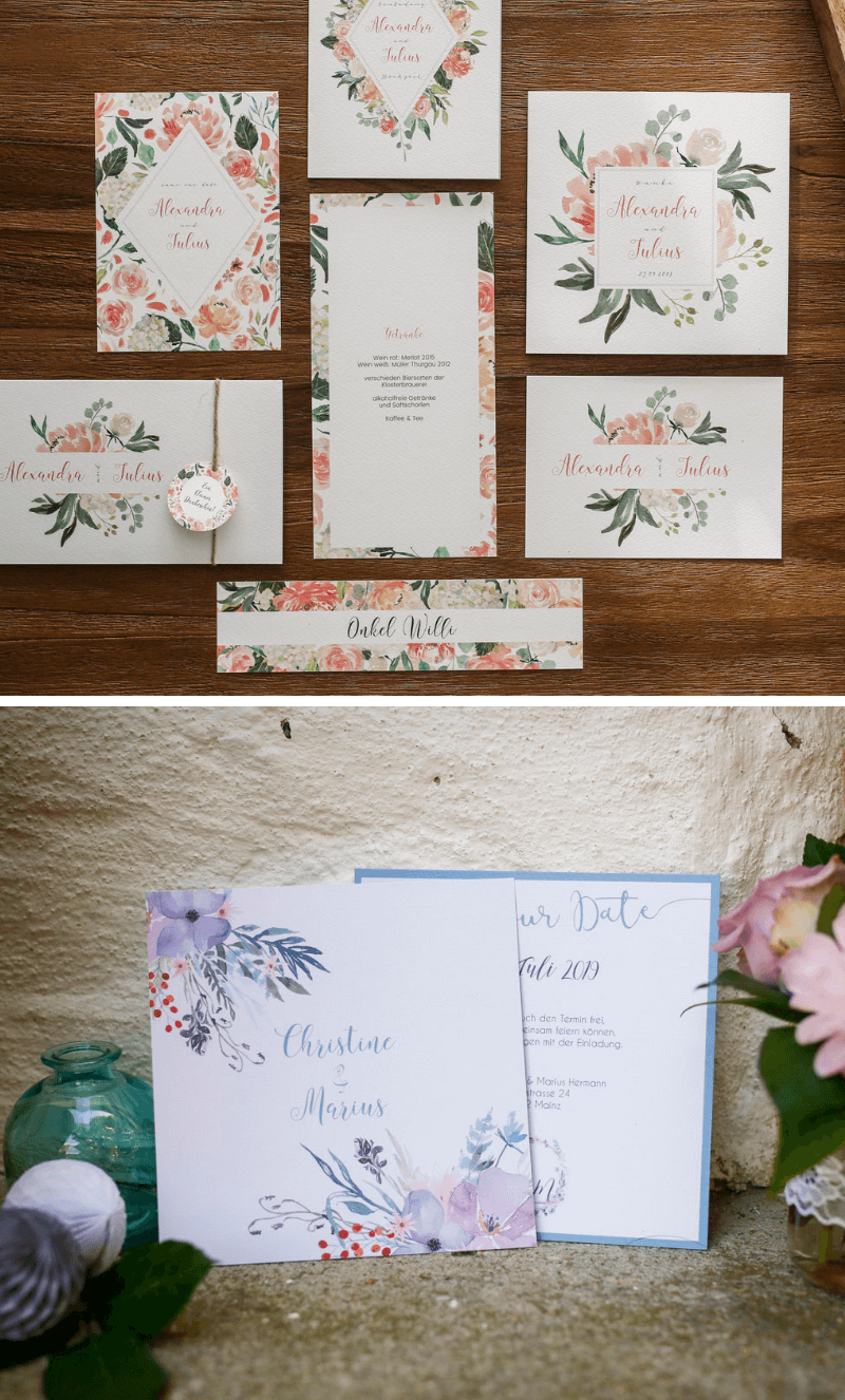 Hochzeitseinladungen Ländlich