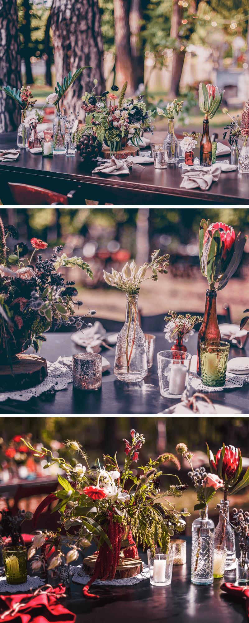 tischdeko hochzeit, tischdeko originell, originelle hochzeitsdeko, tischdekoration hochzeit, hochzeitsdeko ausgefallen, tischdeko wildblumen, hochzeitsdeko wiesenblumen