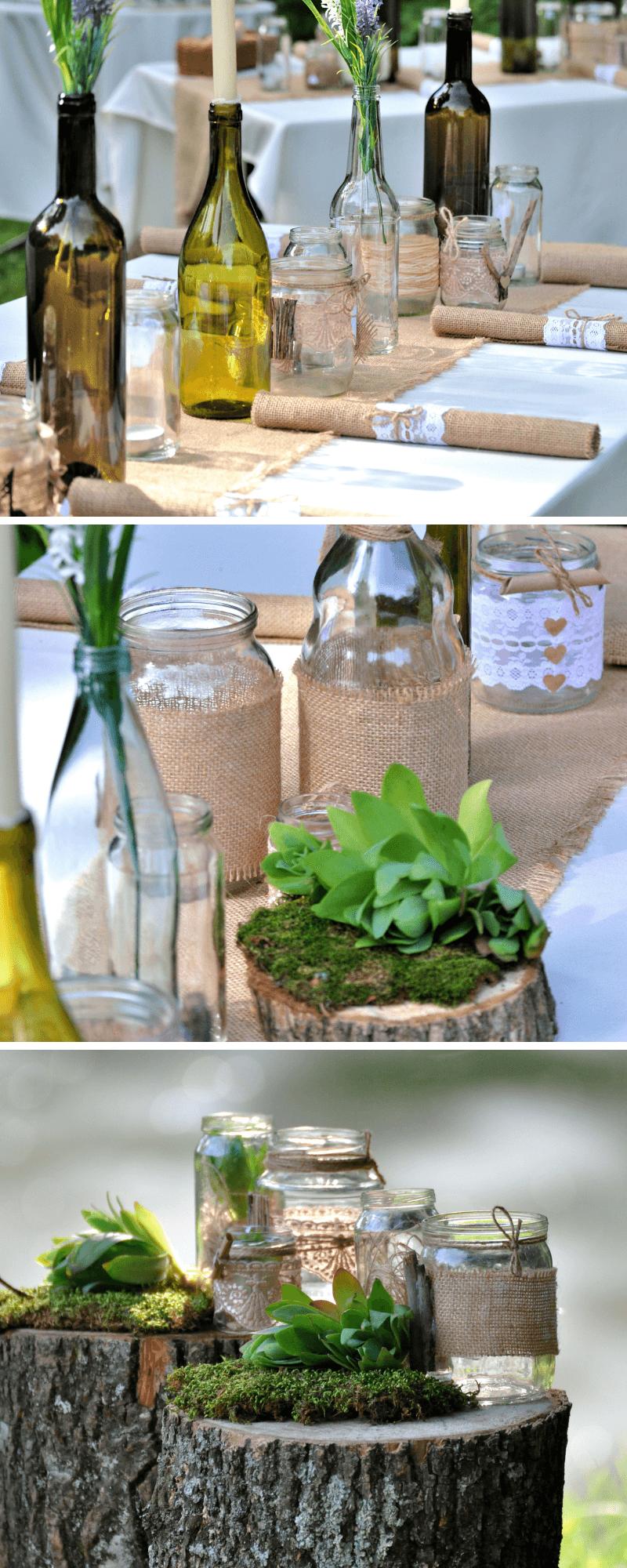 tischdeko hochzeit, tischdeko originell, originelle hochzeitsdeko, tischdekoration hochzeit, hochzeitsdeko ausgefallen, tischdeko glasflaschen, hochzeitsdeko minimalistisch
