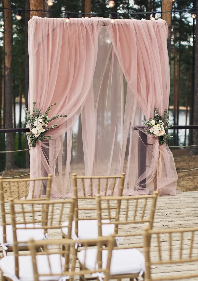 Hochzeitsbogen Rosa