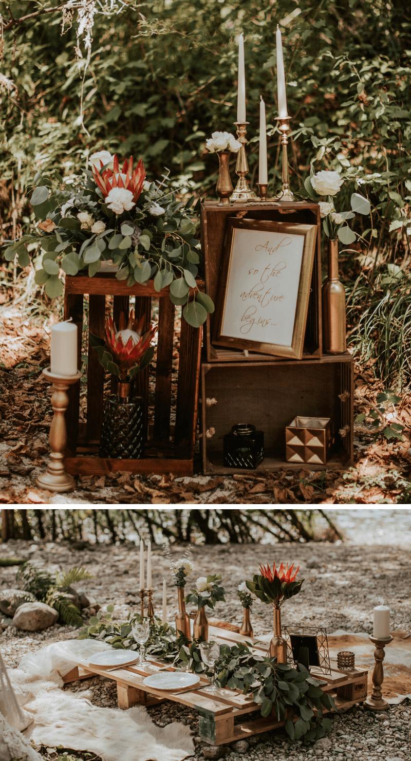 Boho Hochzeitsdeko