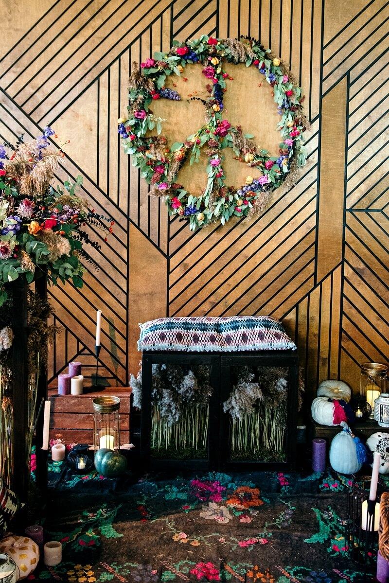 Boho Blumendeko Hochzeit