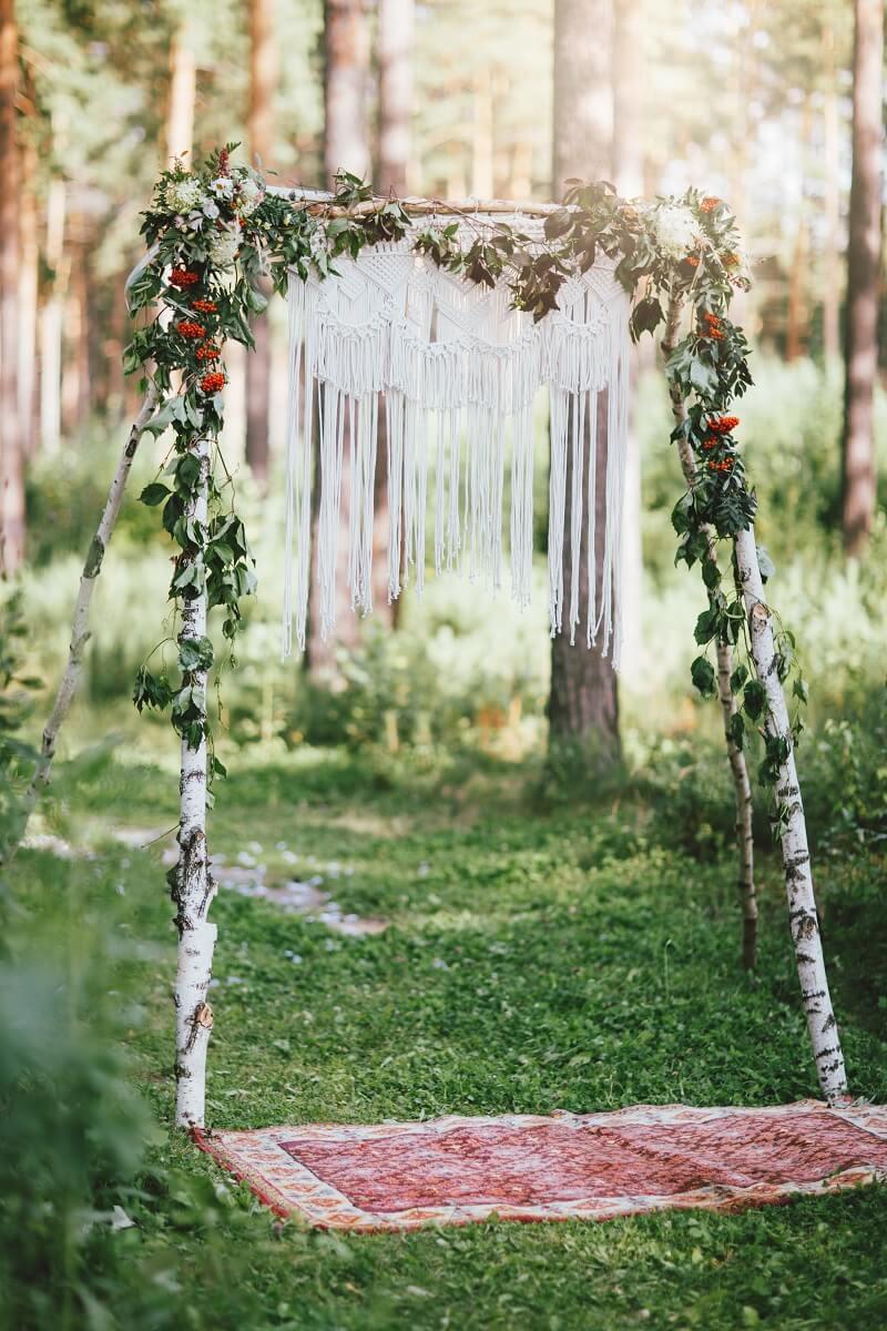 Boho Hochzeitsbogen rustikal