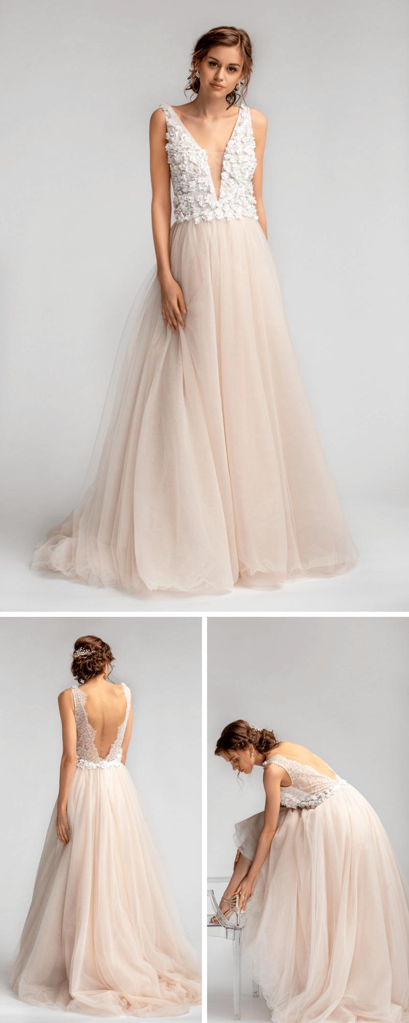 low priced 726e1 3d878 Fein und luftig: Brautkleider Trends für jeden Brauttyp ...