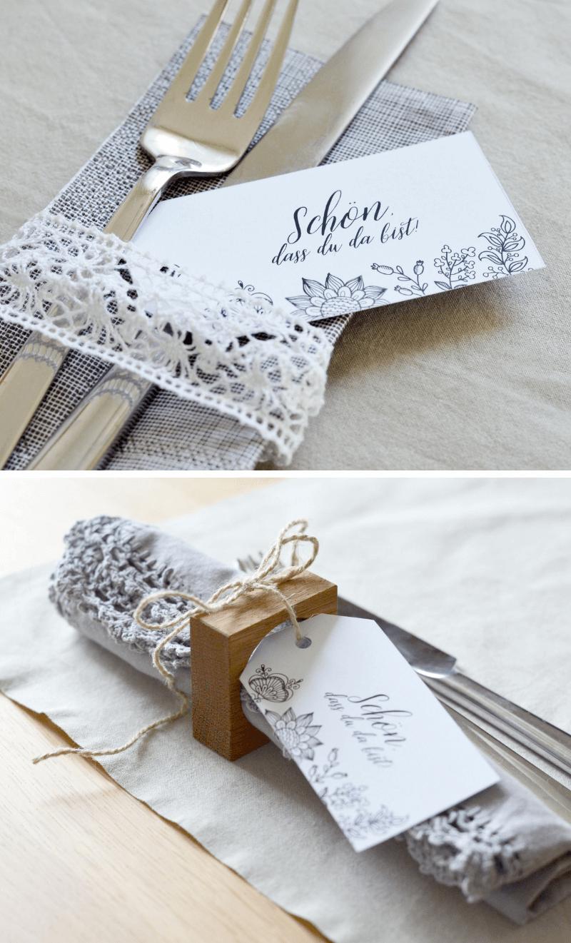 Diy Bestecktaschen Und Anhanger Fur Die Hochzeit Hochzeitskiste