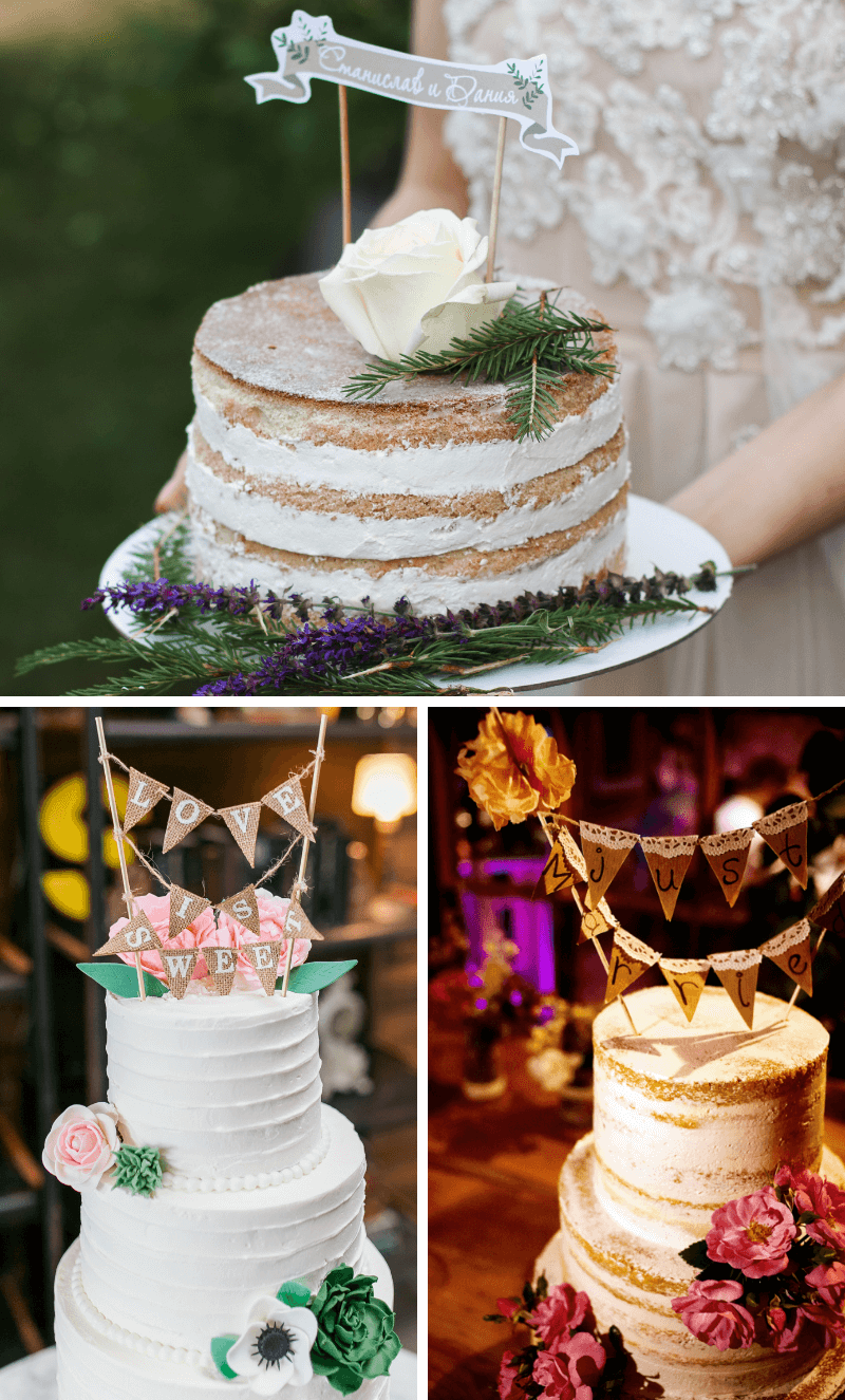 Cake Topper Hochzeit, Cake Topper lustig, Hochzeitstorte Cake Topper, DIY Cake Topper, Cake Topper Girlande