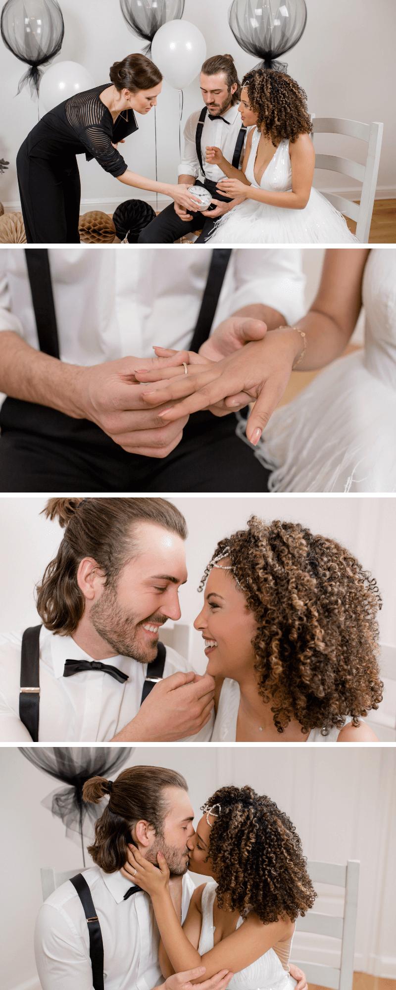 Hochzeit glamour, Hochzeit gold schwarz, Hochzeit klein, Hochzeit zu hause feiern