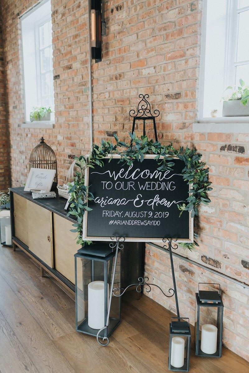 Willkommensschild Hochzeit Tafel