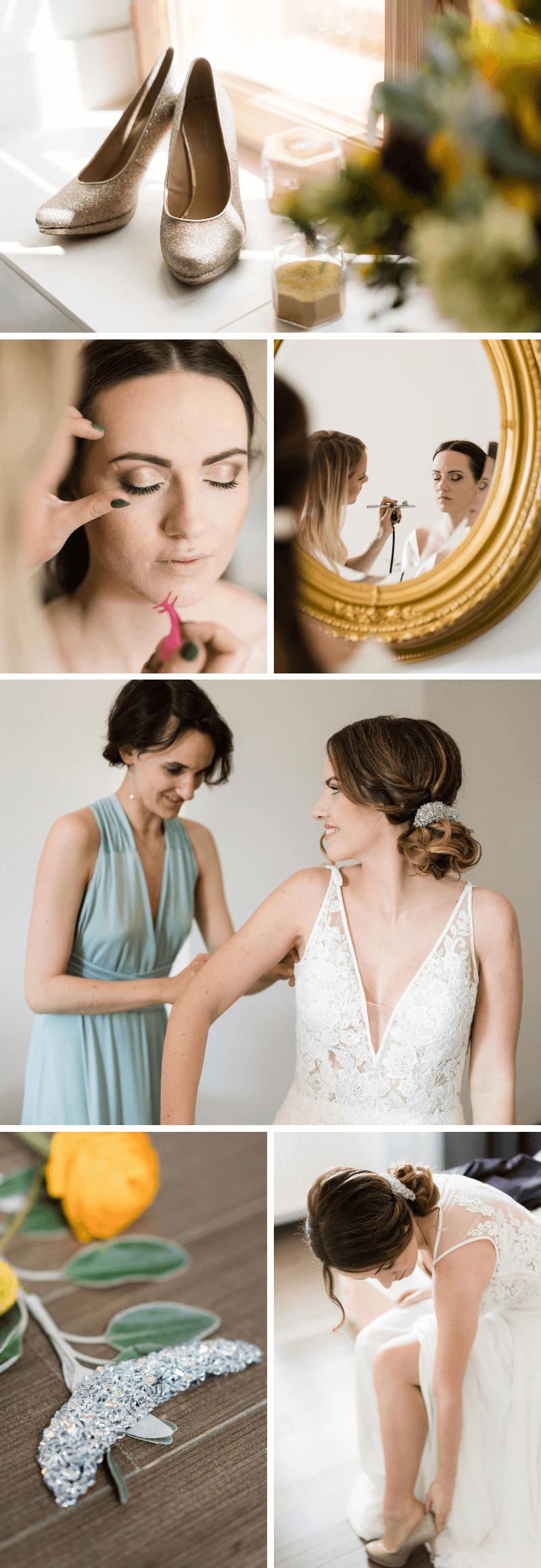 Hochzeit im Grünen, Hochzeit elegant, Hochzeit grün, Hochzeit gelb, Hochzeit gold, Brautfrisur elegant, Brautfrisur hochgesteckt