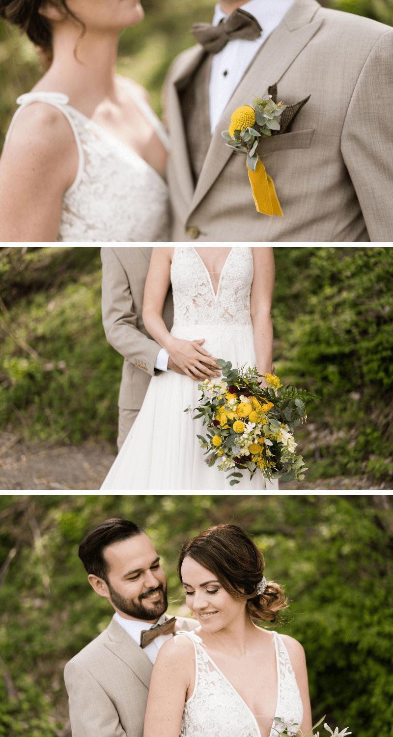 Hochzeit im Grünen, Hochzeit elegant, Hochzeit grün, Hochzeit gelb, Hochzeit gold, Hochzeit draußen, Hochzeitsfotos Ideen, Brautpaar Fotos