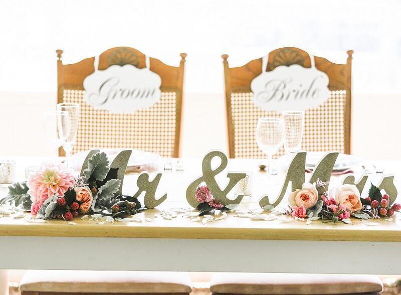 Brauttisch Deko